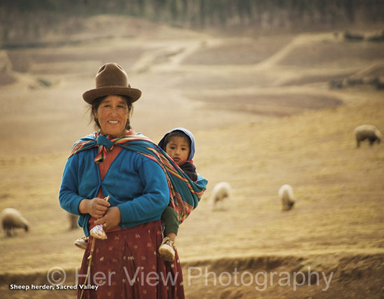 Photo Andean Sheepherder, Sacred Valley