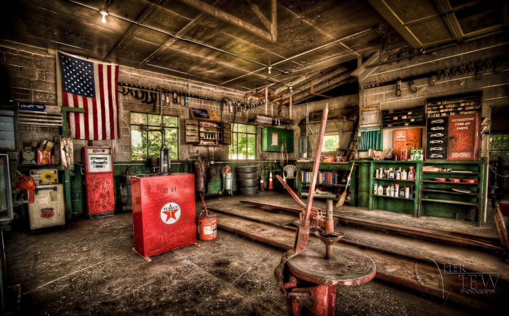 HDR of old Texaco station