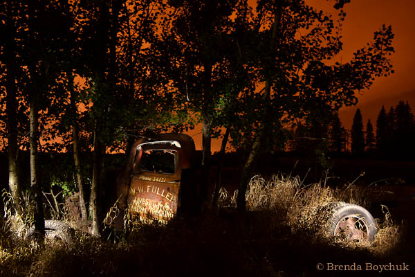 Night photography field trip - student image by Brenda Boychuk
