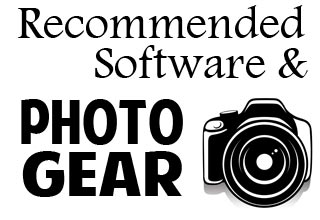 reviews of recommended photo gear and software